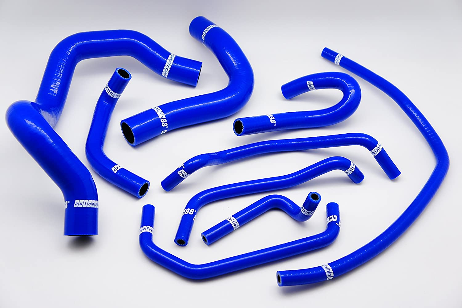 Blue -with Clamp Set Autobahn88 Radiator Coolant /& Heater Silicone Hose Kit for 2003-2012 Mazda RX8 SE3P 13B MSP