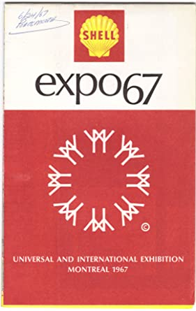 Shell Oil Company Expo67 Map Montreal 1967 Worlds Fair At Amazons