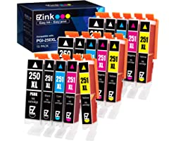 E-Z Ink (TM) Compatible Ink Cartridge Replacement for Canon PGI-250XL CLI-251XL PGI 250 XL CLI 251 XL to use with PIXMA MX922