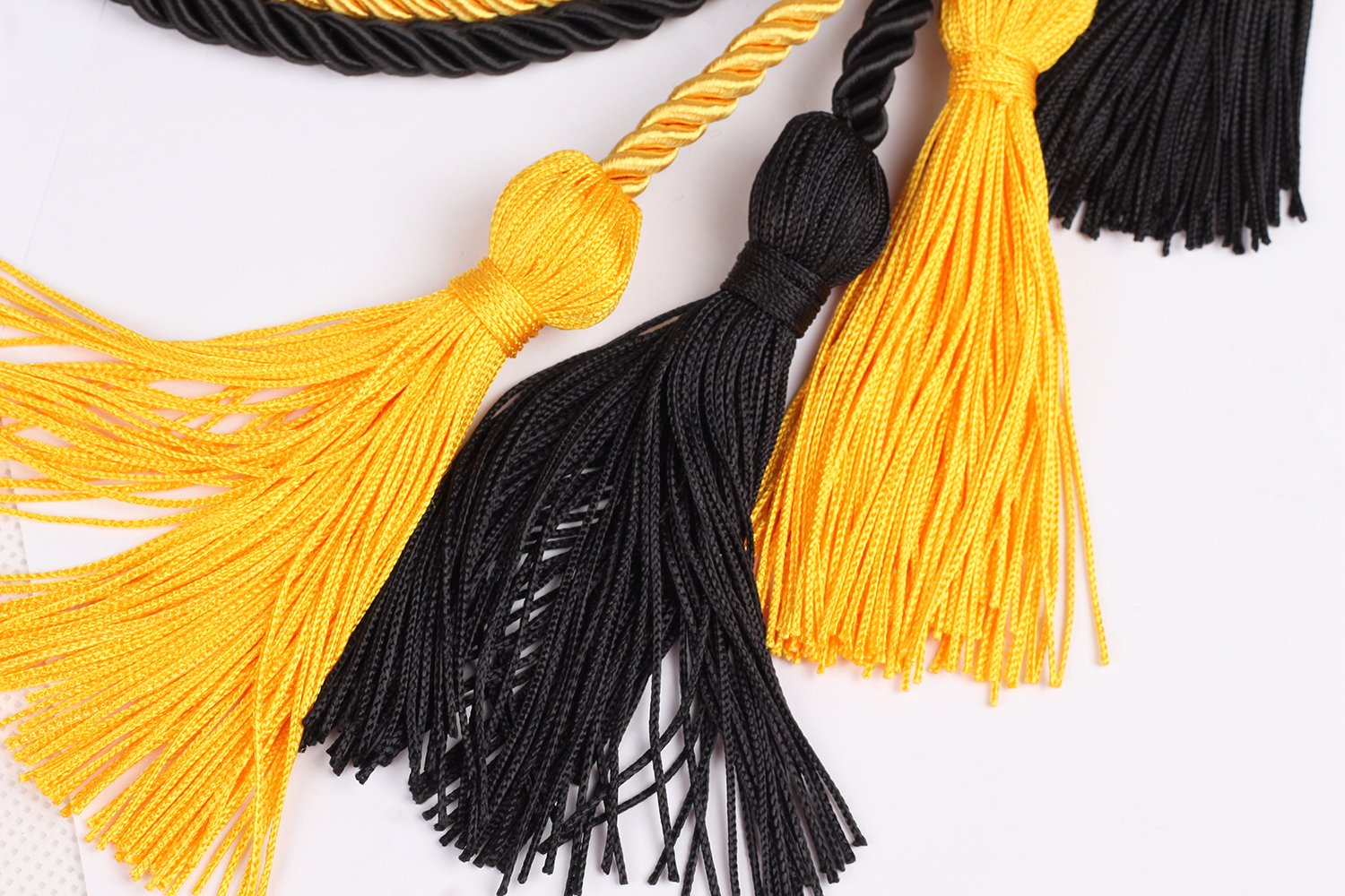Double Graduation Honor Cords Black and Red,68 Long