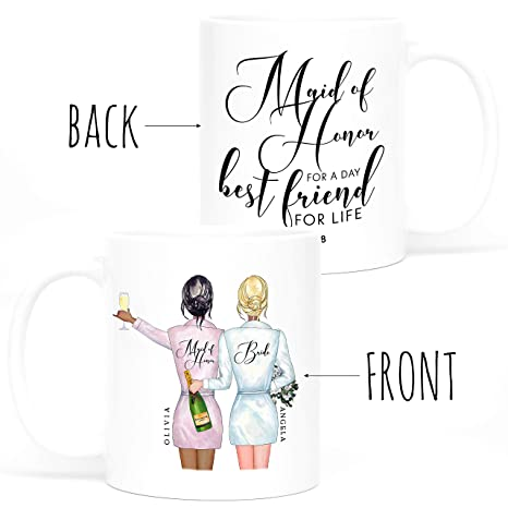 44c98fe0186 Personalized Bridesmaid Gifts - Coffee Mug Gifts - 11oz - 5 Different  Designs - Wedding Gifts