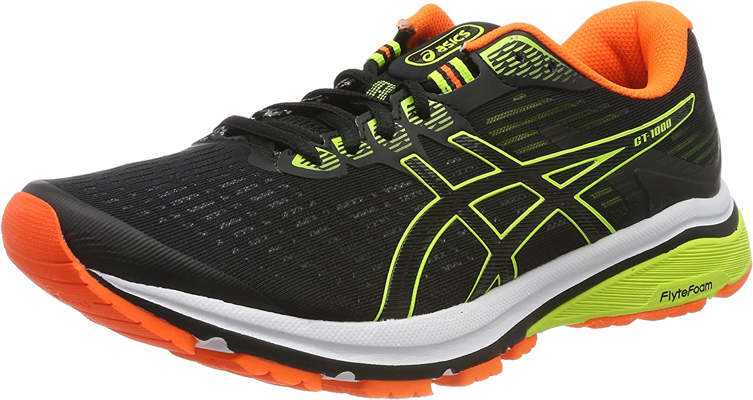 Asics Gt-1000 8, Zapatillas de Running para Hombre, Negro (Black/Safety Yellow 003), 41.5 EU: Amazon.es: Zapatos y complementos