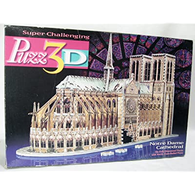 - Puzz 3d 952 pieces Jigsaw Puzzle Notre Dame de Paris Cathedral: Toys & Games