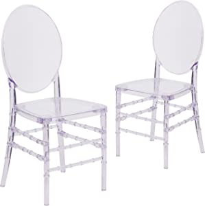 Flash Furniture 2 Pack Flash Elegance Crystal Ice Stacking Florence Chair