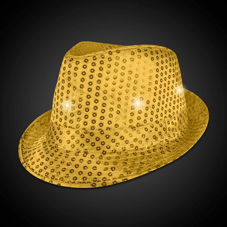 Supreme Party /& Novelties LED Fedora Gold