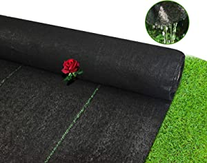 SQUEEZE master Pro 5oz Weed Barrier Landscape Fabric- 3x250ft -Heavy Duty Gardening Mat - Woven with PP & Cotton,1 Pack