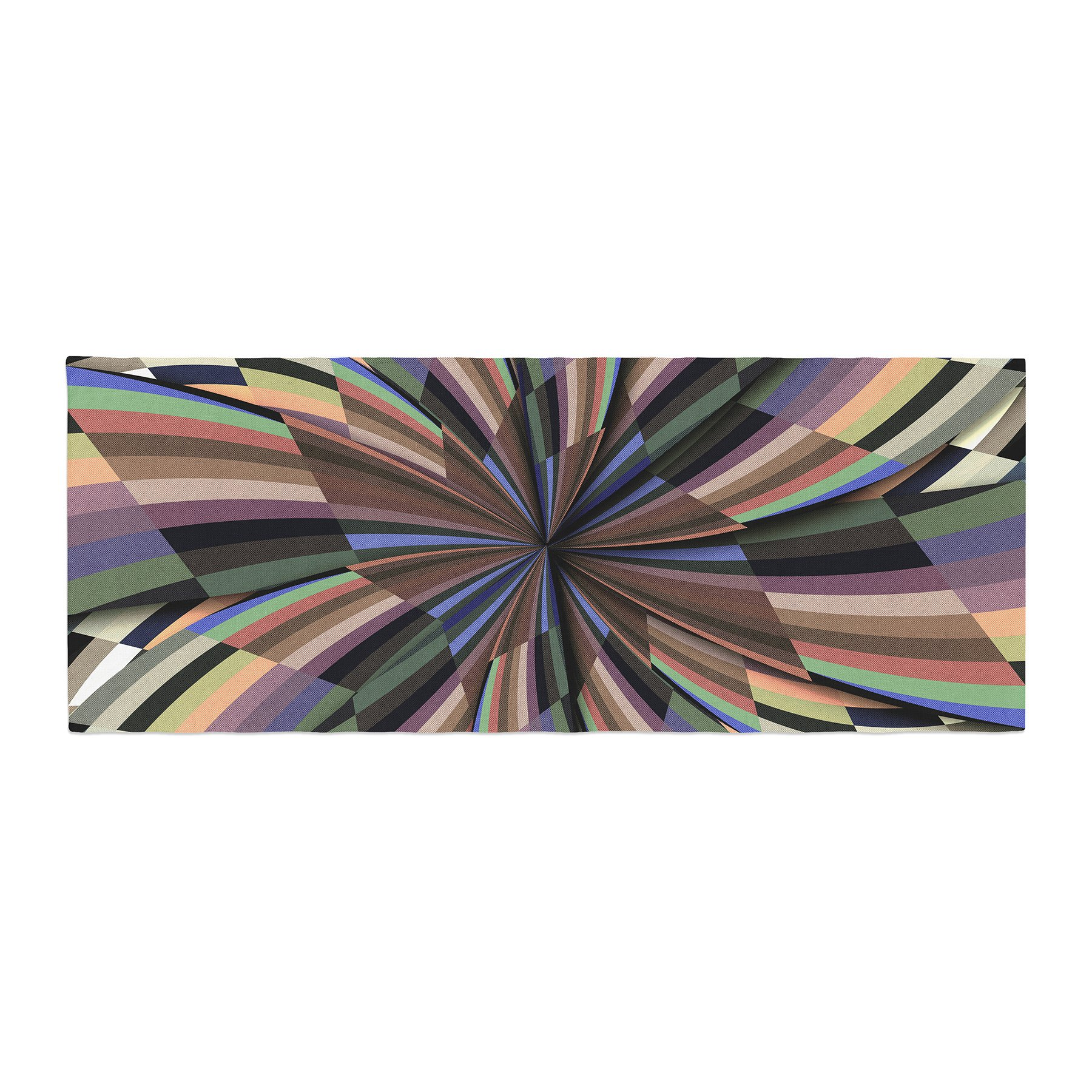 Kess InHouse Danny Ivan Love Affair Beige Geometric Bed Runner, 34'' x 86'' by Kess InHouse (Image #1)