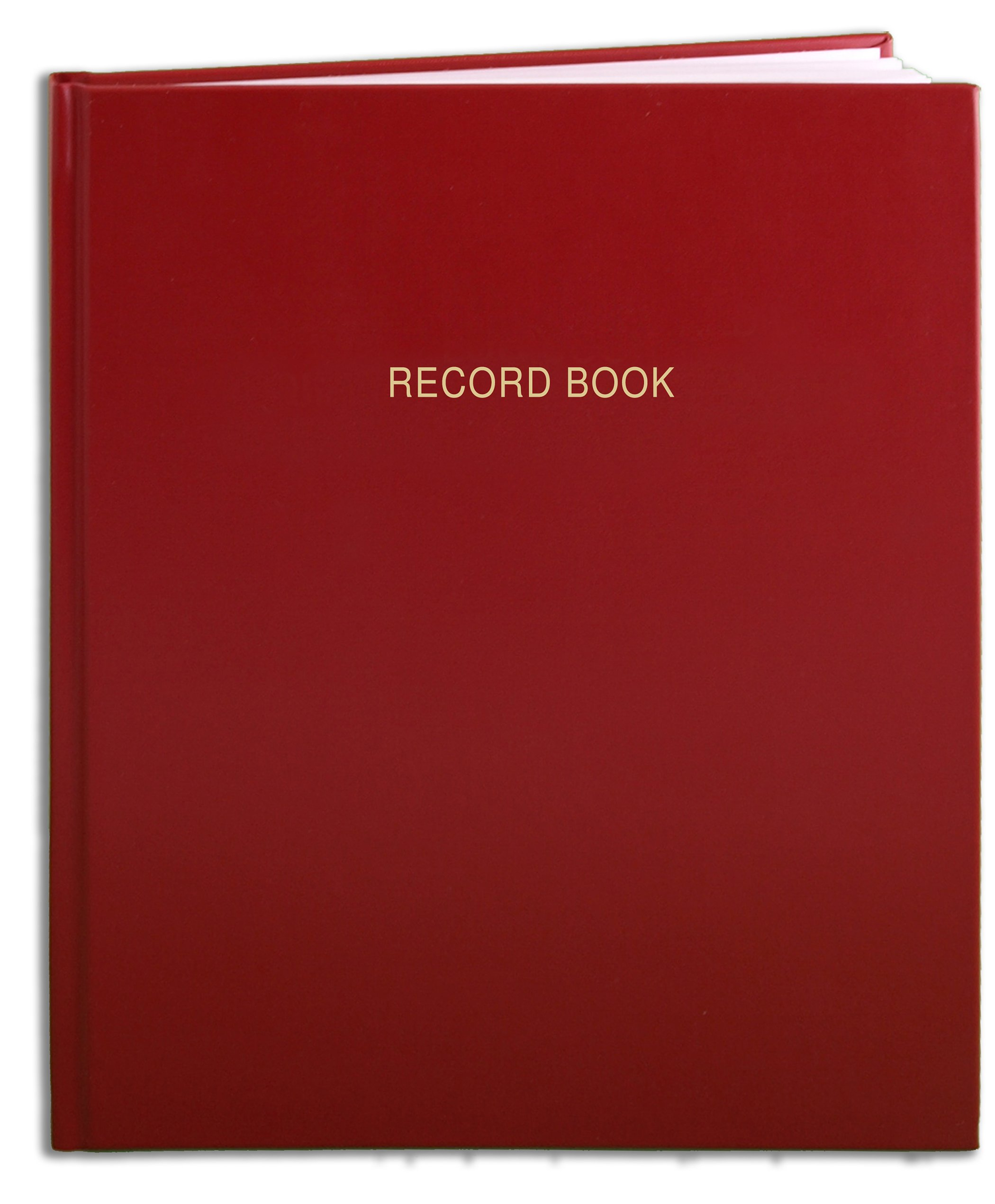 BookFactory Red Record Book/Record Notebook - 240 Pages 8'' x 10'' Red Cover Smyth Sewn Hardbound (RA-240-SRS-A-LRT15) by BookFactory
