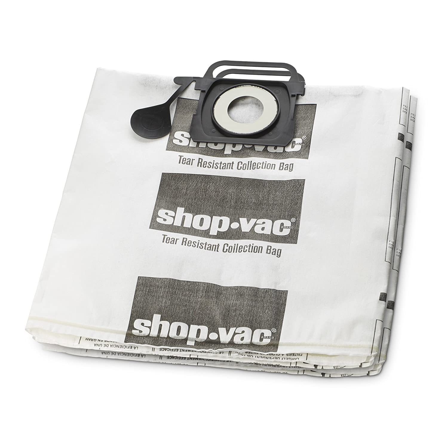 Shop-Vac 9021333 Tear Resistant Collection Filter Bags, 5-10 gallon, White