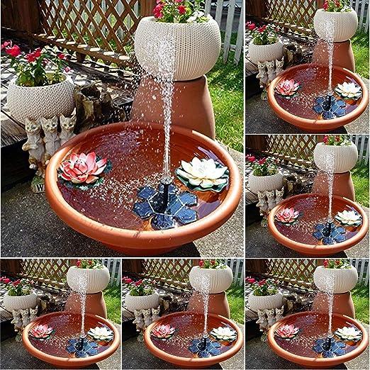 AIMCAE Fuente Solar 7V Fuente de Agua Sin escobillas Fuente de Agua Solar Flotante Fuente de Agua Bomba de Agua 160L / H Decoración de jardín de baño de Aves: Amazon.es: Hogar