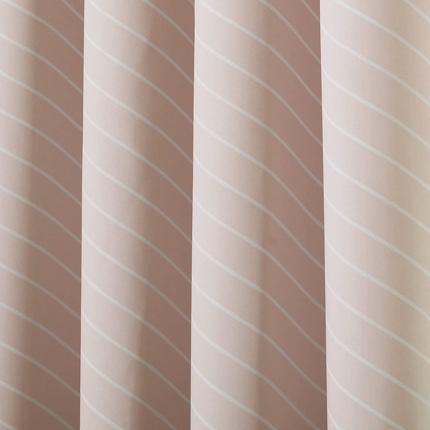 52 W X 96 L - Best Home Fashion Room Darkening Diagonal Stripe Curtains BG-62-DSTRP-LILAC-96 Lilac Set of 2 Panels Stainless Steel Nickel Grommet Top