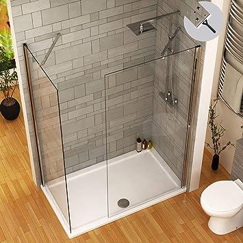 Modern Marbella - Mampara de ducha (110 x 900 mm, 8 mm, acabado en ...