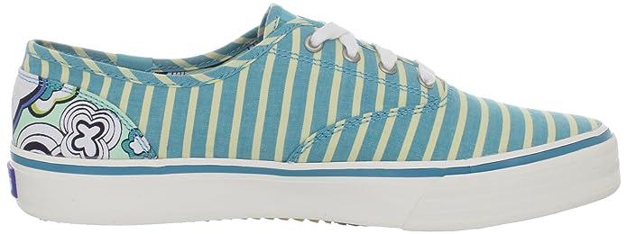 Keds Double Dutch Stripe Sneaker Aqua /Lime, Blue,