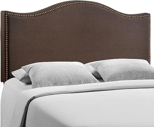 Modway Curl Upholstered Linen Queen Headboard Size