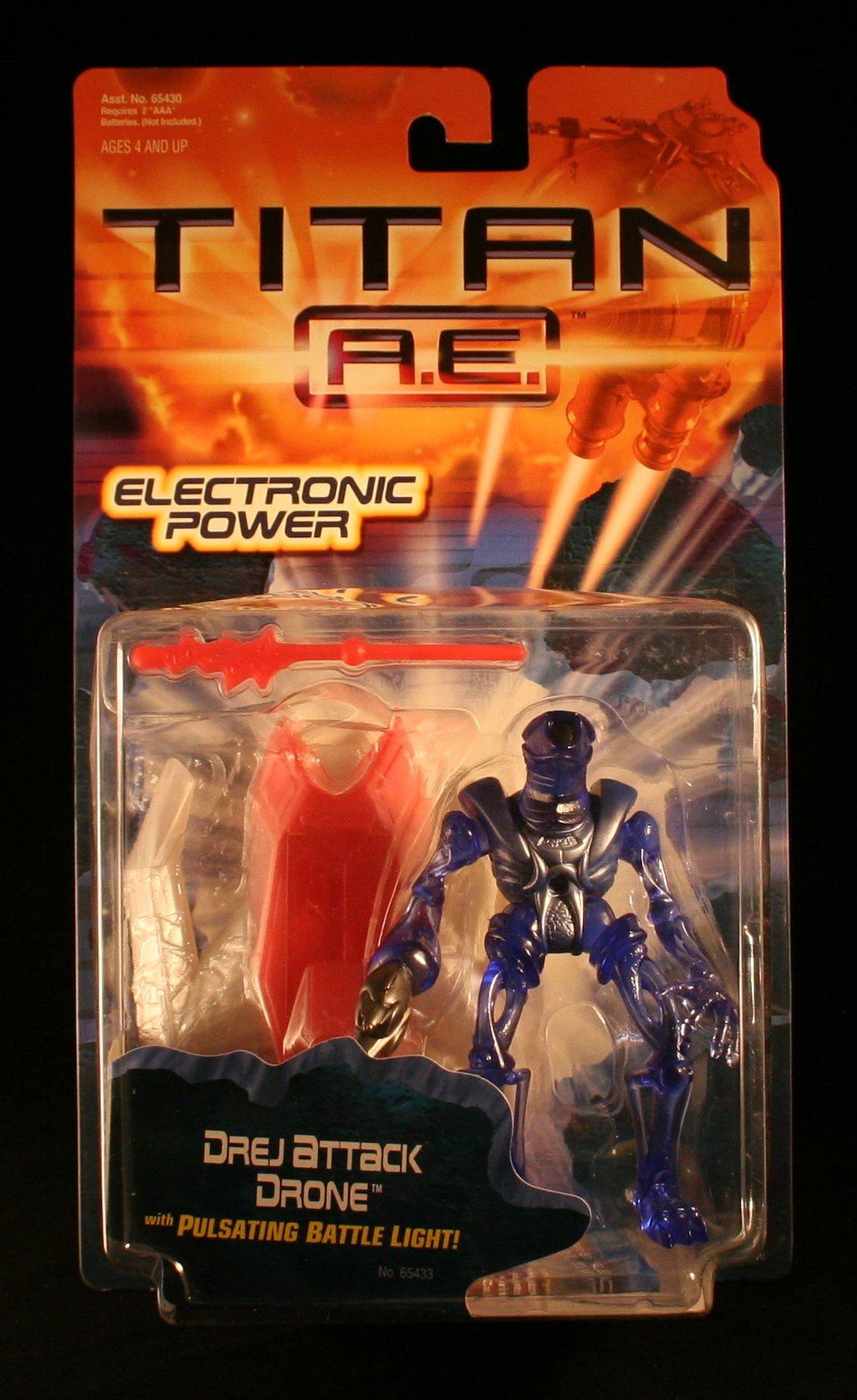 DREJ ATTACK DRONE w/ Pulsating Battle Light TITAN A.E. Electronic Power 2000 Action Figure