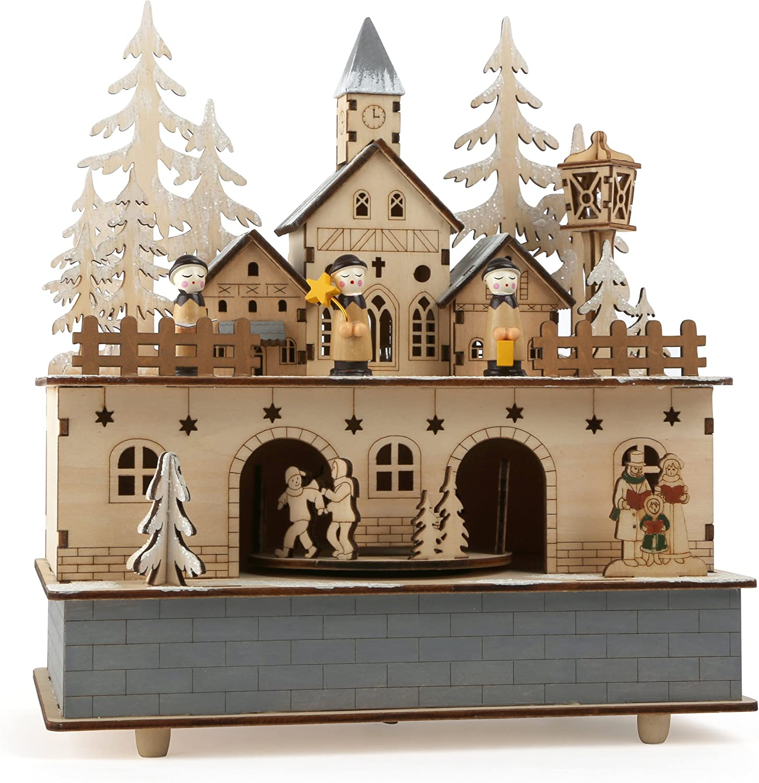 small foot company Little Village - Caja de música y lámpara (24 x ...