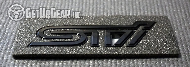 Gloss Black GeturGear Rear Custom Emblem Badge for WRX//STI 2015+