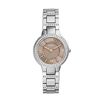 Fossil Reloj para Mujer de Cuarzo con Correa en Acero Inoxidable ES4147: Amazon.es: Relojes