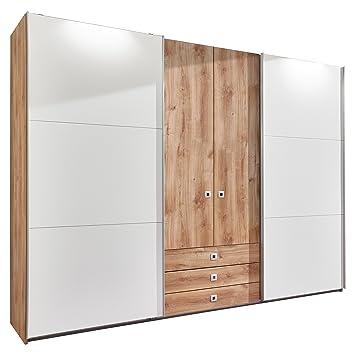 Kleiderschrank schiebetüren holz  Wimex E10440 Kleiderschrank, plankeneiche nachbildung, Holz ...