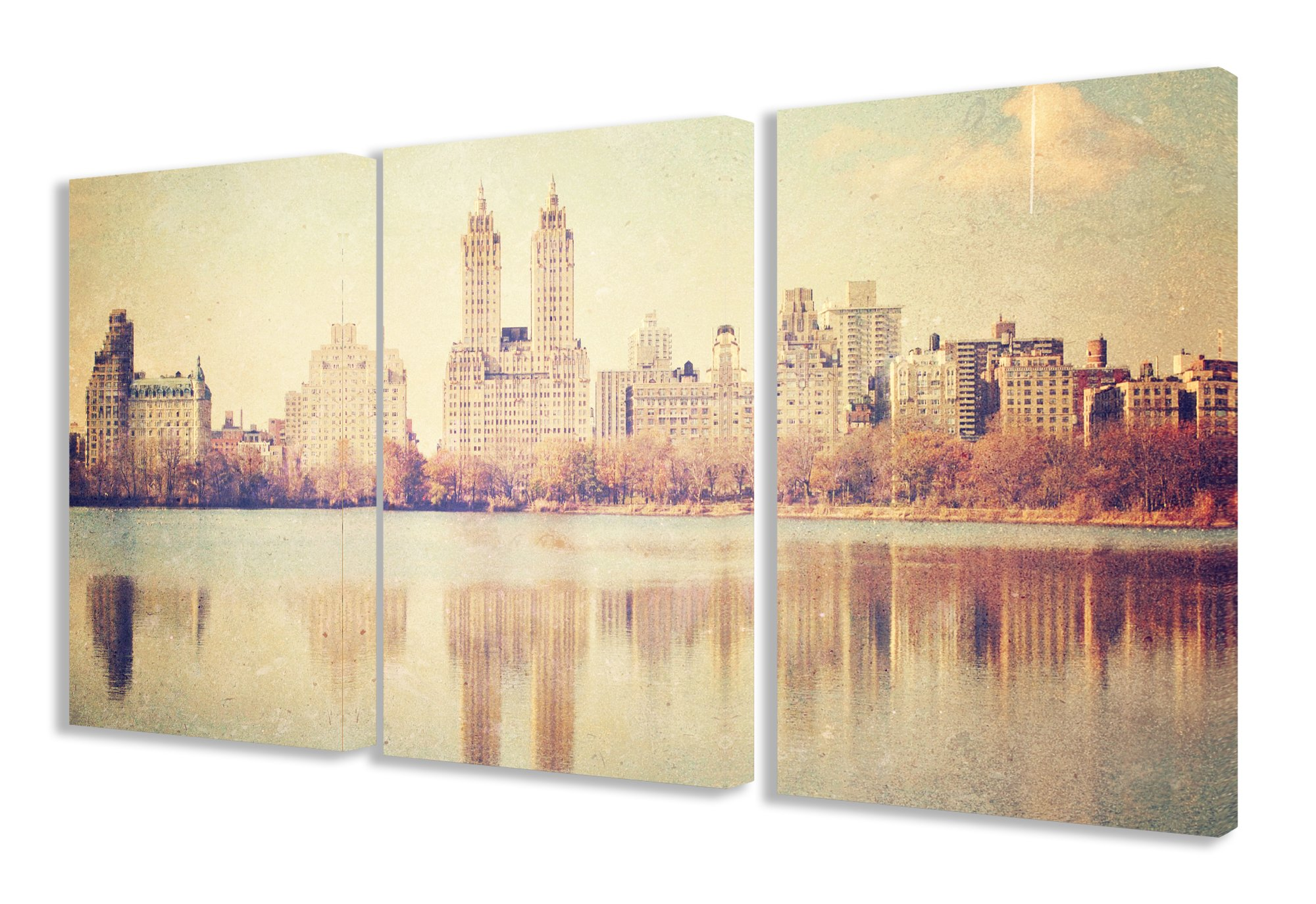 Stupell Home Décor 3 Piece Central Park Overlook Photographic Triptych Canvas Art Set, 16 x 1.5 x 24, Proudly Made in USA