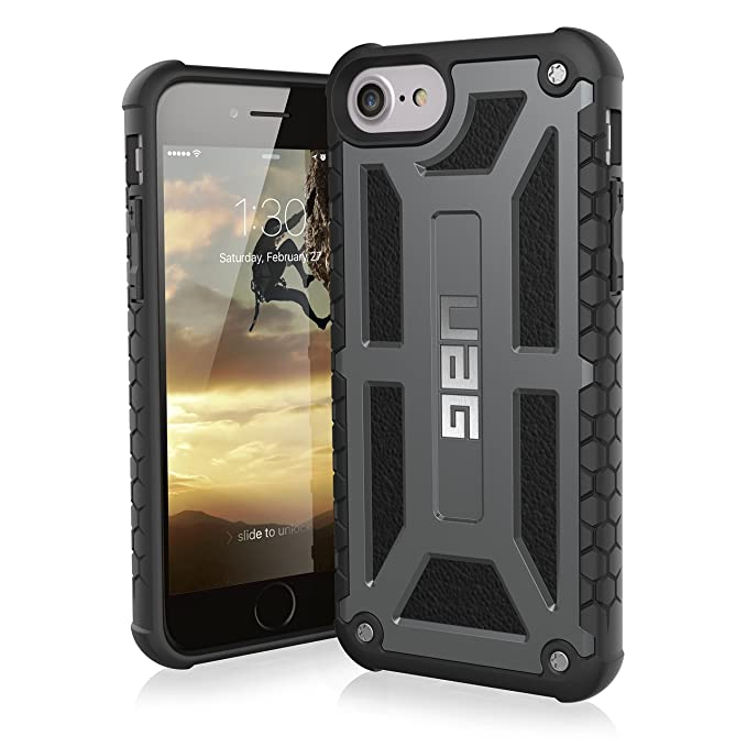 newest 2d2fa 749f2 UAG iPhone 8 / iPhone 7 / iPhone 6s [4.7-inch screen] Monarch Feather-Light  Rugged [GRAPHITE] Military Drop Tested iPhone Case