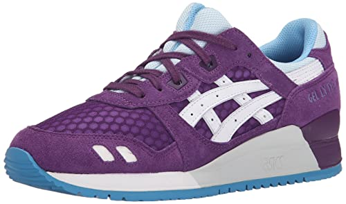 ASICS Womens Gel Lyte III Retro Running Shoe, PurpleWhite, ...
