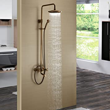 Lightinthebox Antique Inspired Solid Brass Bath Tub Mixer Taps - Tub and shower faucet with handheld showerhead
