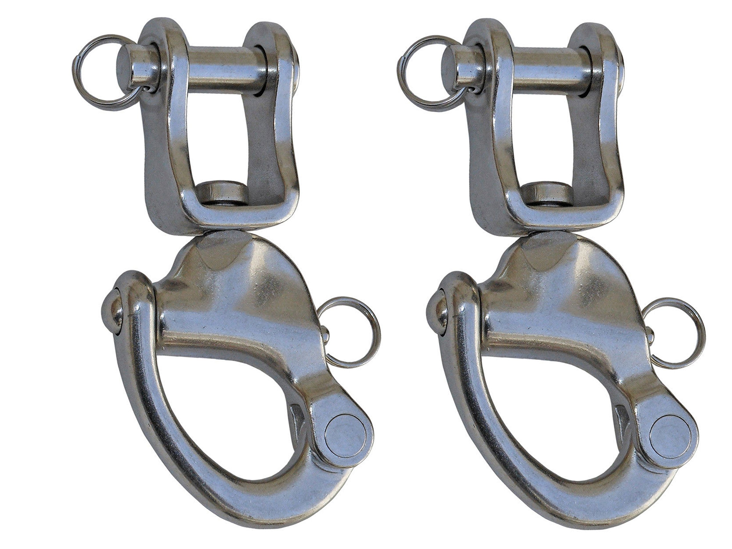 Five Oceans Tack Swivel Snap Shackle, 5'' (Pairs) FO-448-M2