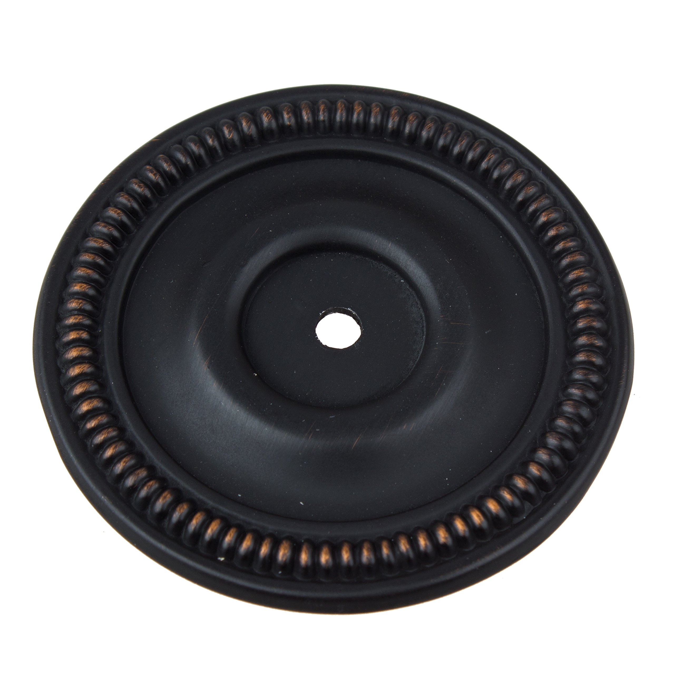 GlideRite Hardware 5060-ORB-50 Round Cabinet Back Plate, 50 Pack, 2.5'', Oil Rubbed Bronze