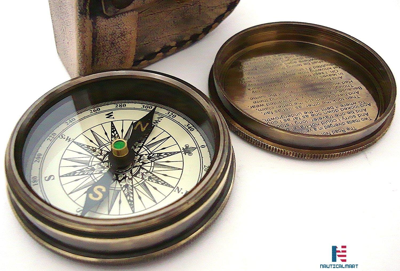 ロバートフロスト詩compass-pocketコンパスWレザーケース B073ZDNPRQ