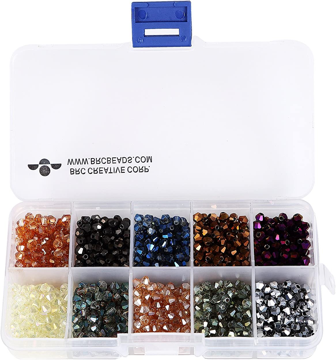 centre drill Wholesale 17x Strands x17 Strands 6mm Clear Bicone Glass Beads x57 beads pstrand bicone glass beads