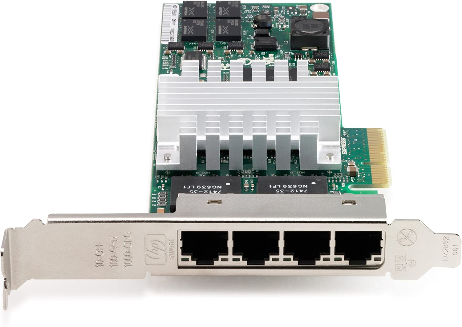 HP NC364T PCIe 4Pt Gigabit Server Adptr (Renewed)