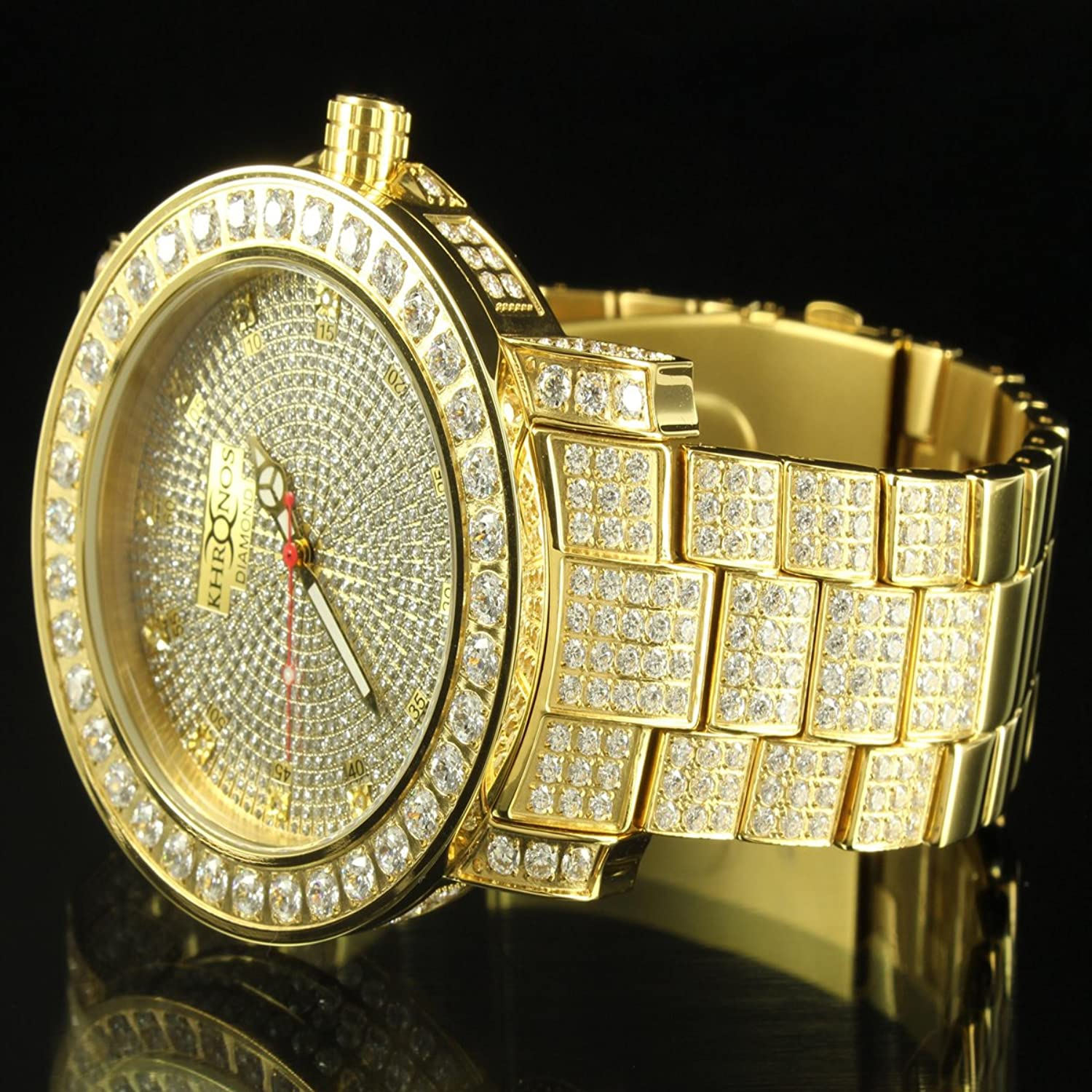 men watches plated wristwatches new luxury hiphop designs brand house gold white mens for