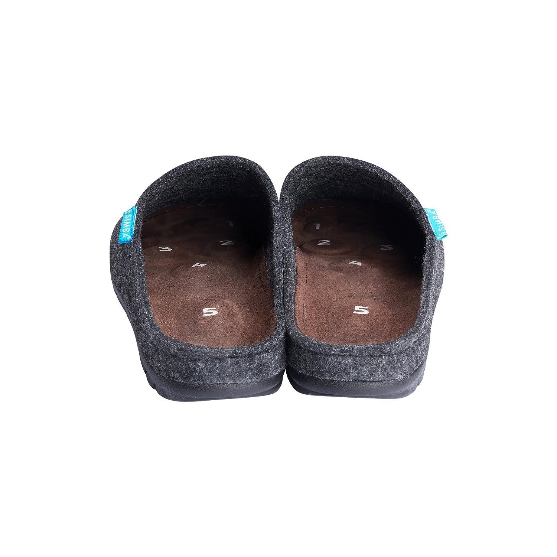 Simba Akupressur-Hausschuhe aus Echter Wolle für Herren Reflexzonen Höchster Komfort
