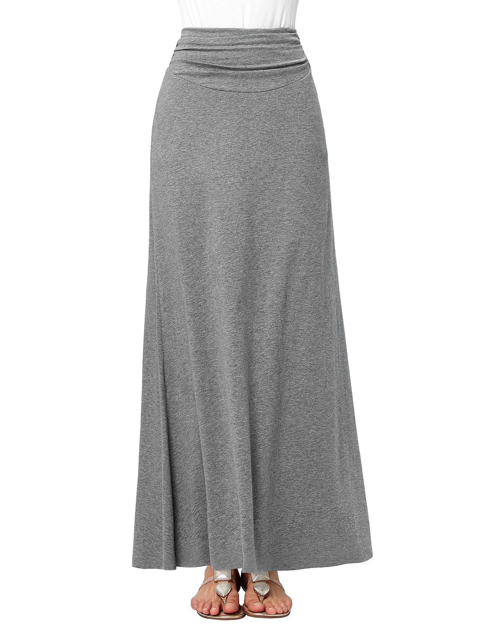 Lightweight Stretch Soft Long Maxi Skirt for Juniors Wear to School Size L KK289-2
