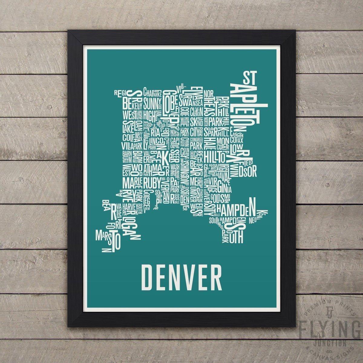 Amazon.com: Denver Neighborhood Map Print: Handmade