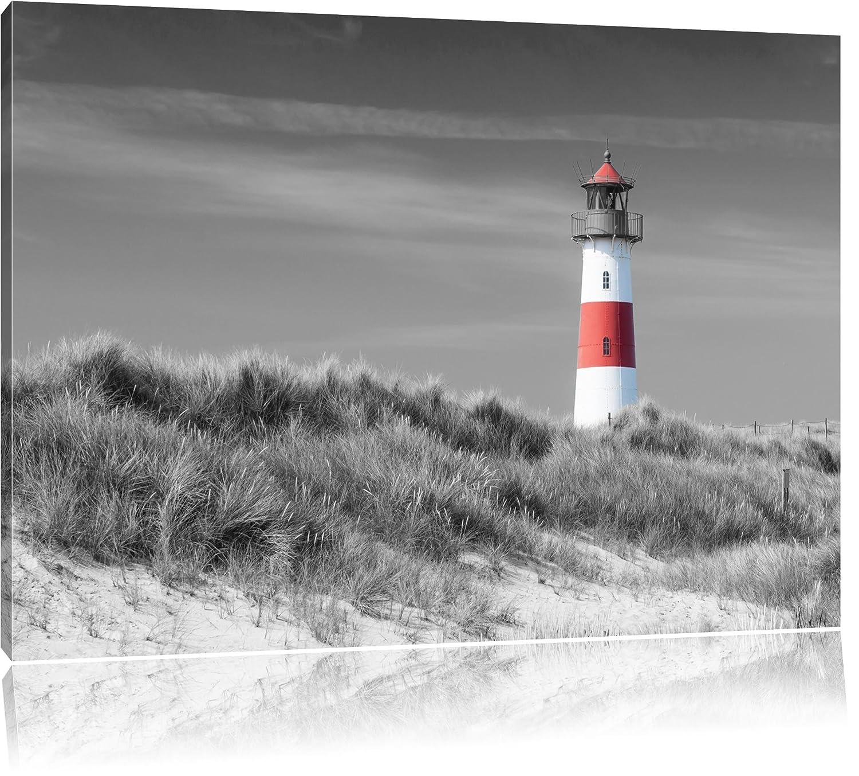 Amazon.de: Leuchtturm in den Dünen schwarz/weiß Format: 100x70 auf ...