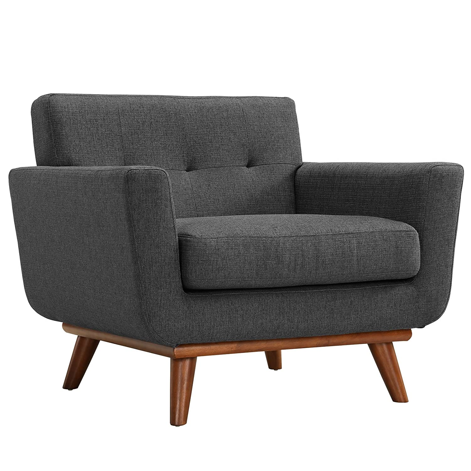 modern arm chair. Amazon.com: Modway Engage Mid-Century Modern Upholstered Fabric Armchair In Gray: Kitchen \u0026 Dining Arm Chair A