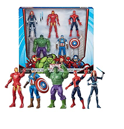 With avengers posed like black widow thank you
