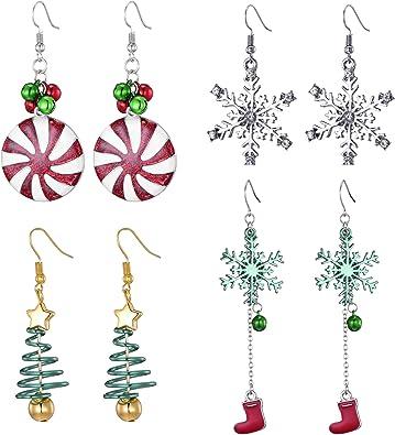 """Navidad /""""Calcetines Mujeres Niñas Niños Disfraz Regalos Accesorios Fiesta 15 5 pares"""