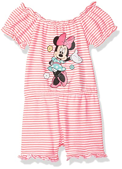 d68baaff5 Amazon.com  Disney Baby Girls Minnie French Terry Romper  Clothing