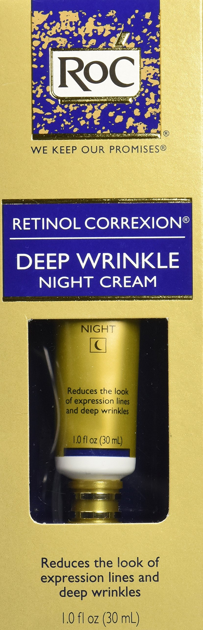 RoC Retinol Correxion Deep Wrinkle Anti-Aging Retinol Night Cream, Oil-Free and Non-Comedogenic, 1 oz by RoC (Image #3)