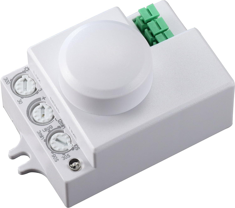 Garza Power - Detector de Movimiento Microondas Invisible, ángulo ...