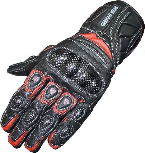 German Wear Motorradhandschuhe Motorrad Biker Handschuhe Lederhandschuhe Größe 11 Xxl Farbe Rot Auto