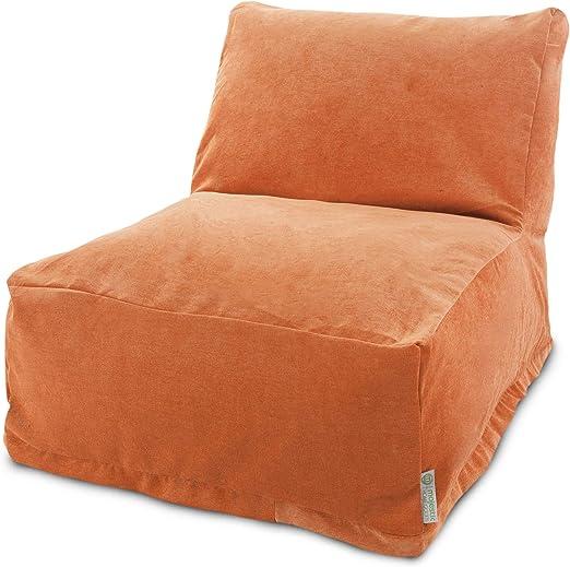 Amazon Com Majestic Home Goods Villa Orange Bean Bag Chair Lounger Furniture Decor