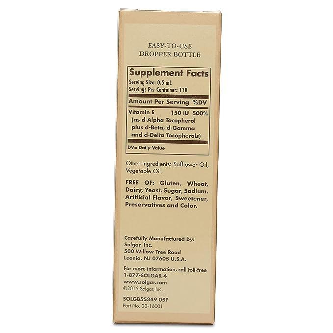 Solgar Vitamina E Líquida - 59,2 ml