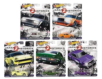 Amazon Com Hot Wheels 1 64 Car Culture Japan Historics 2 Set Of 5