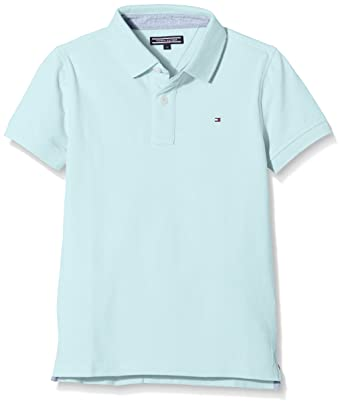 a5bd26f5 Tommy Hilfiger Jungen AME Tommy Polo S/S Poloshirt, Blau (Stratosphere 412)