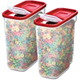 Rubbermaid Premium Modular Food Lids | Cereal Keeper, 2-Pack | 18-Cup Stacking, Space Saving Plastic Storage Containers…