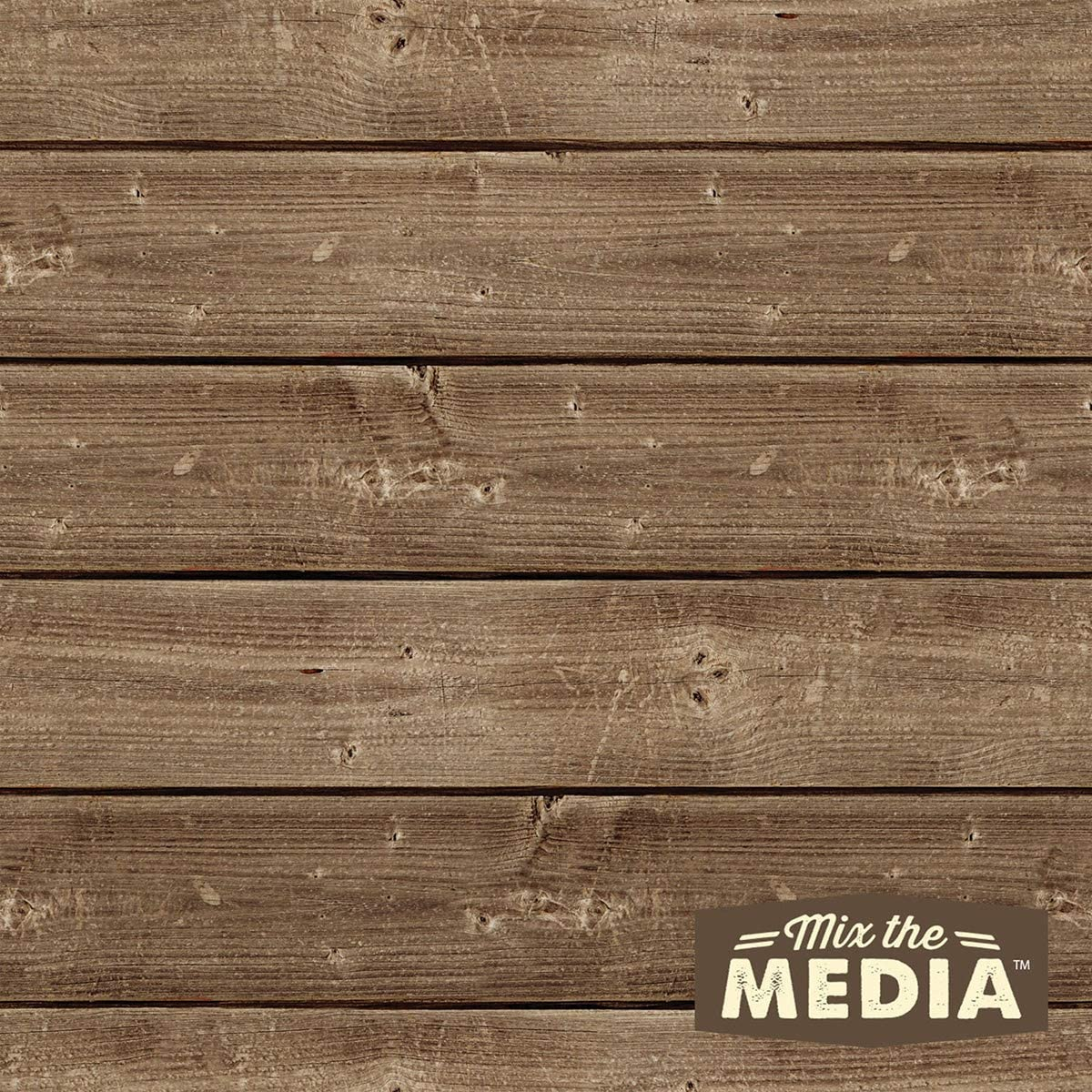 12x12 Dark 8 Pack Jillibean 95183 Mix The Media Wooden Plank 8//Pkg